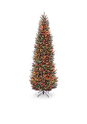 national tree company 9 ft natural fraser slim fir tree with multicolor lights