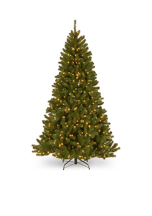 90 in North Valley Spruce Hinged Tree With LED Lights