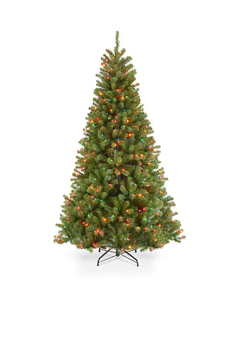 9 ft North Valley Spruce Tree with Multicolor Lights