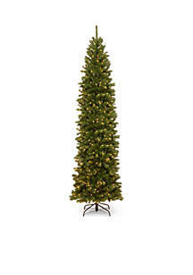 National Tree Company® 10-ft. North Valley Spruce Pencil Slim Tree with Clear Lights