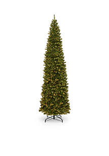 12-ft. North Valley Spruce Pencil Slim Tree with Clear Lights