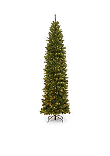 9-ft. North Valley Spruce Pencil Slim Tree with Clear Lights