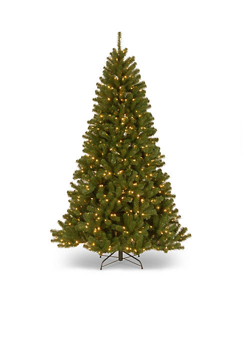 108 Inch North Valley Spruce Hinged Tree With LED Lights