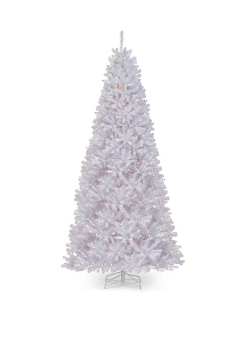 14 Foot North Valley® White Spruce Tree with Clear Lights