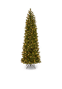 National Tree Company® 6.5 ft Feel Real Downswept Douglas Fir Pencil Slim Tree with Clear Lights