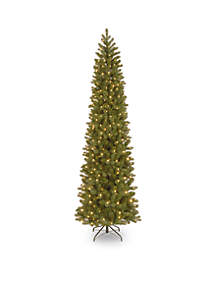 National Tree Company® Feel Real Downswept Douglas Fir Pencil Slim Tree with Clear Lights