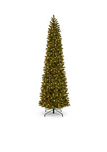 Feel Real Downswept Douglas Fir Pencil Slim Tree with LED Lights