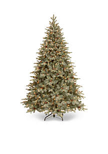 7.5-ft. Frosted Arctic Spruce Hinged Tree with Cones