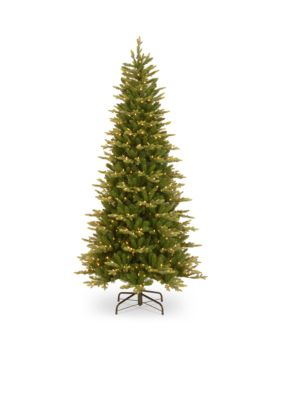 National Tree Company  Feel Real Glen Ridge Spruce Slim Tree with Clear Lights and PowerConnect -  7601575PEGL8302P75