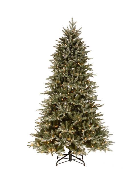 National Tree Company® 7.5 Foot Frosted Geneva Tree