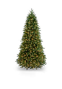 National Tree Company® 6.5-ft. Feel Real Jersey Fraser Fir Slim Tree with Clear Lights