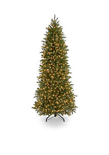 6.5-in. Feel Real Jersey Fraser Pencil Slim Fir Tree with Clear Lights