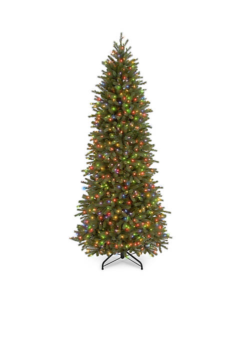 6.5-ft. Feel Real Jersey Fraser Pencil Slim Fir Tree with Multi Lights