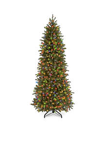 National Tree Company® 6.5 ft Feel Real Jersey Fraser Pencil Slim Fir Tree with Multi Lights