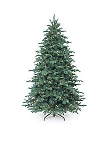 National Tree Company® Feel Real Mountain Noble Spruce Hinged Tree With Lights