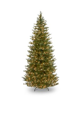 National Tree Company  7.5-ft. Feel Real Norway Slim Spruce Tree with Clear Lights -  7601575PENF132575