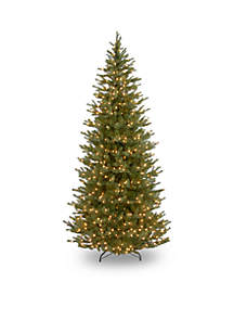 National Tree Company® 7.5-ft. Feel Real Norway Slim Spruce Tree with Clear Lights