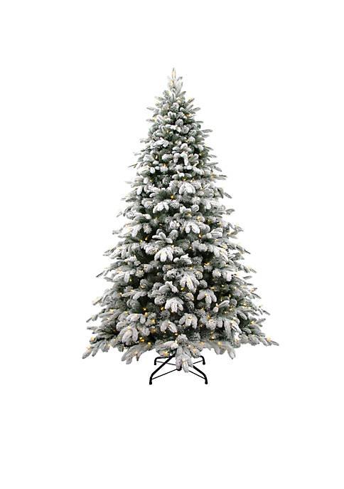 National Tree Company® 7.5 ft Snowy Avalanche Tree