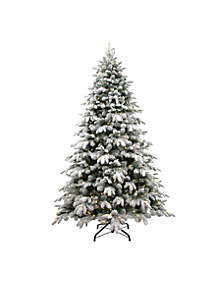 National Tree Company® 7.5 ft Snowy Avalanche Tree with LED Lights