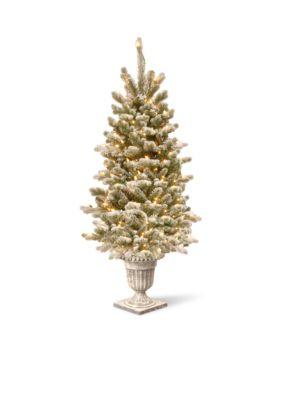 National Tree Company  4-ft. Feel Real Snowy Sheffield Spruce Entrance Tree -  7601575PESL330840