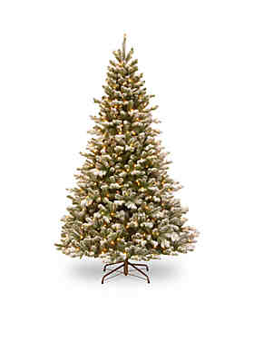 National Tree Company® 7.5-ft. Feel Real Snowy Sheffield Spruce Tree with LED ...