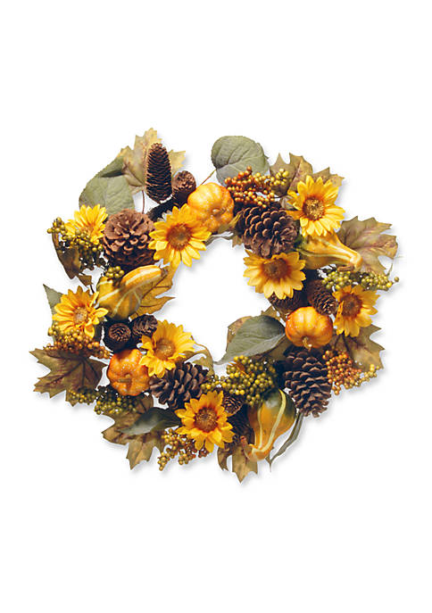 National Tree Company® 22-in. Wreath with Pumpkins &
