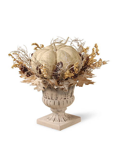 National Tree Company® 18-in. White Pumpkin Topiary