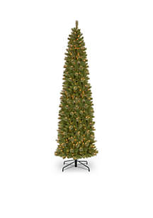 12-ft. Tacoma Pine Pencil Slim Tree with Clear Lights