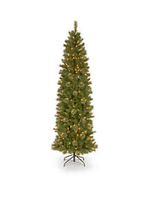 9-ft. Tacoma Pine Slim Hinged Tree with Clear Lights