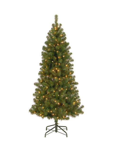 7 Foot Canadian Grande Fir Tree with Clear Lights