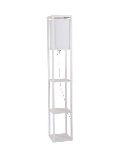 Catalina Lighting Square Etagere Floor Lamp with Display
