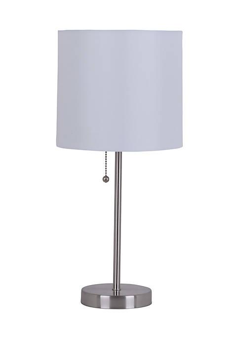 Catalina Lighting Metal Stick Brushed Steel Lamp