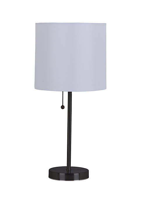 Catalina Lighting Black 19 Metal Stick Lamp