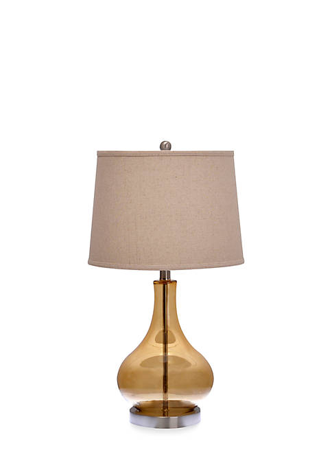 Catalina Lighting Amberly Amber Table Lamp