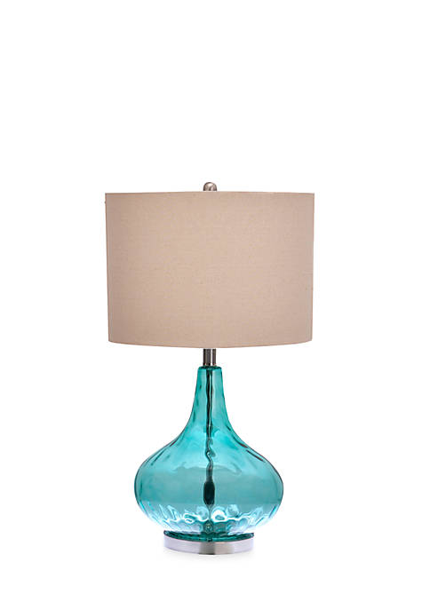 Catalina Lighting Jasmine Thumbprint Glass Table Lamp