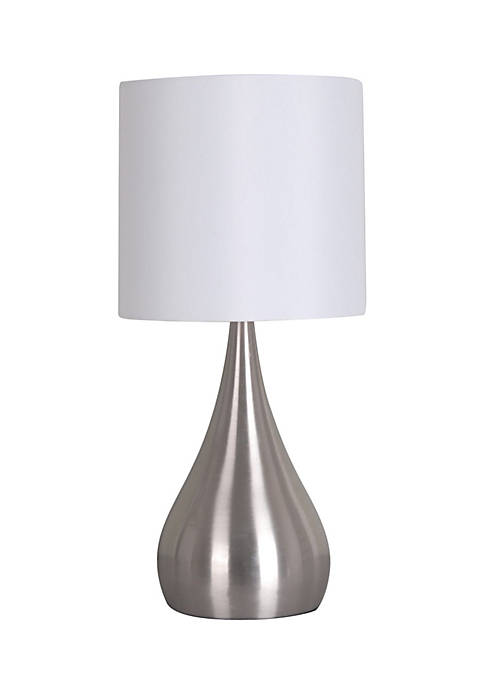Catalina Lighting Brushed Steel Metal Accent Lamp