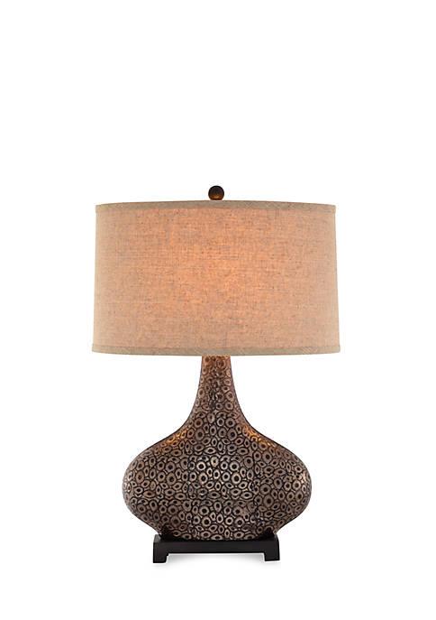 Embossed Ceramic Gourd Table Lamp