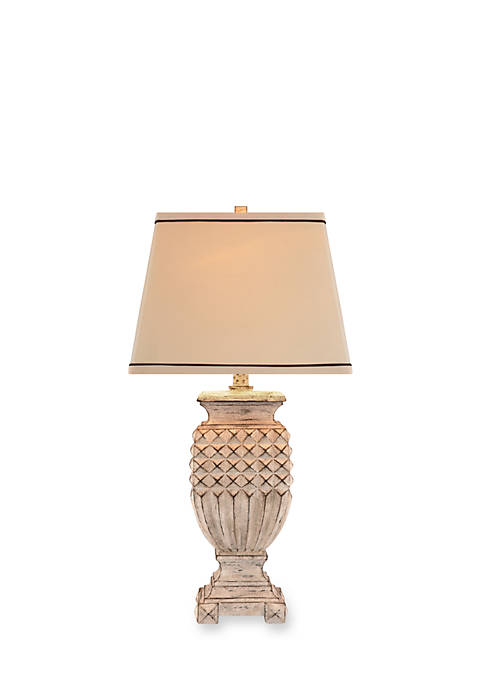 White Washed Table Lamp