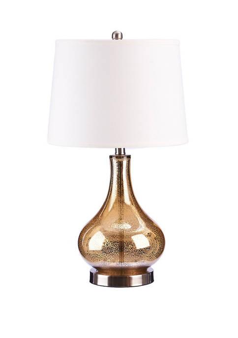 Smooth Mercury GlassTable Lamp