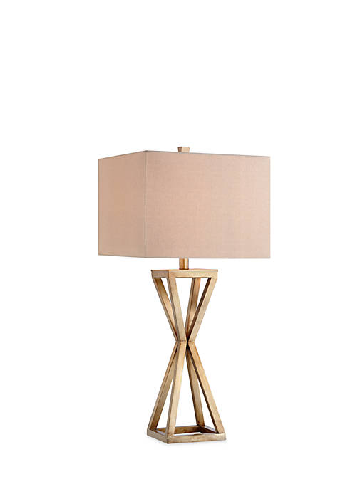 Catalina Lighting Gold Open Cage Table Lamp