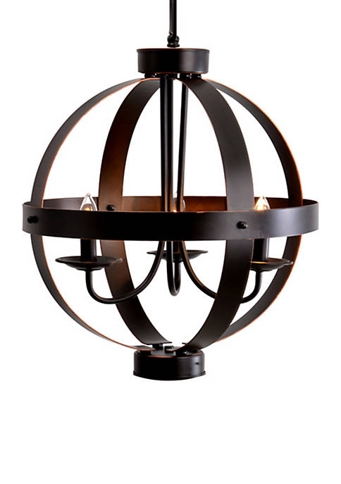 Catalina Lighting 3-Light Bronze Metal Orb Chandelier