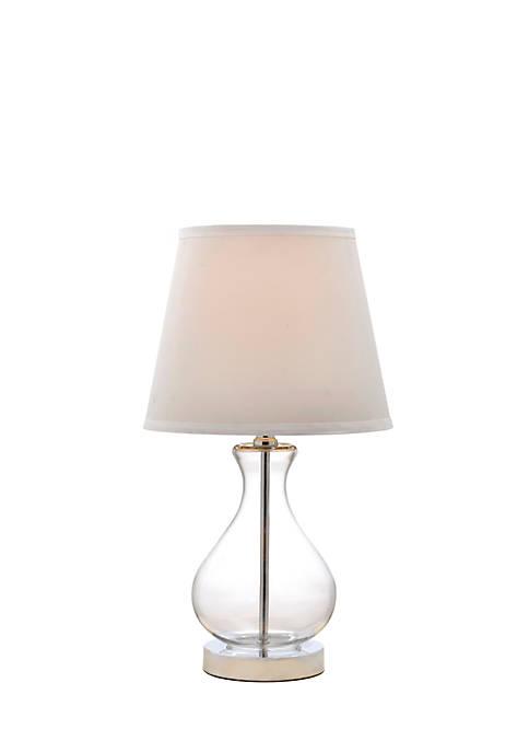 Catalina Lighting Clear Teardrop Glass Lamp