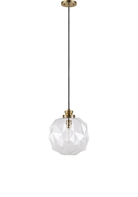 Catalina Lighting Glass Oil Rubbed Bronze Pendant