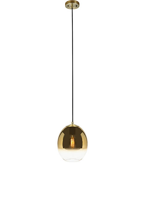 Catalina Lighting Antique Brass Ombre Glass Orb Pendant