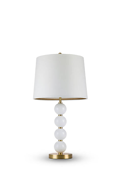 cupcakes and cashmere™ Stacked Milk Glass Ball Table