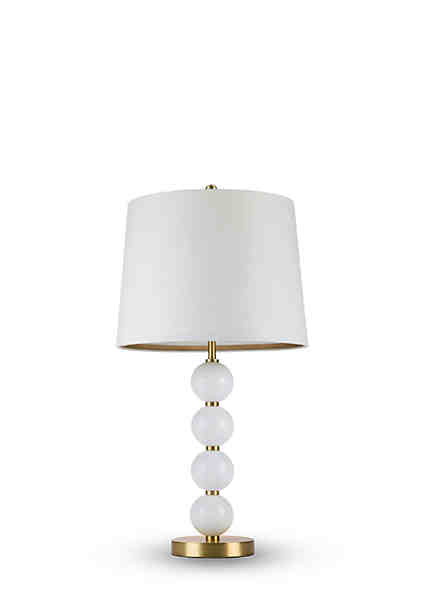 Cupcakes and cashmere stacked milk glass ball table lamp