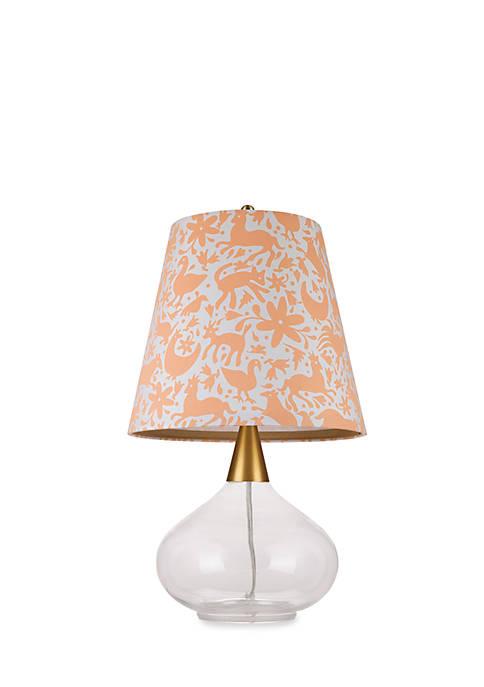 Teardrop Clear Glass Table Lamp