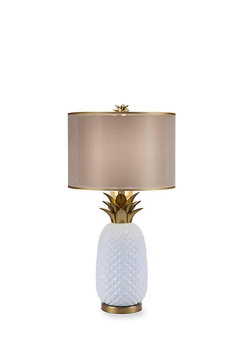Catalina Lighting Ceramic Pineapple Table Lamp