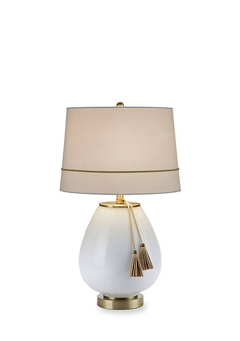 Opal Glass Accent Table Lamp