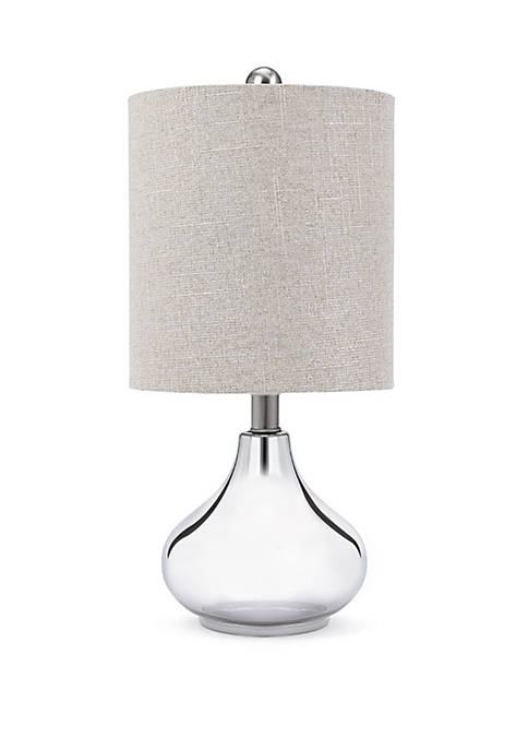 "Catalina Lighting 19"" Plated Silver Teardrop Table Lamp"